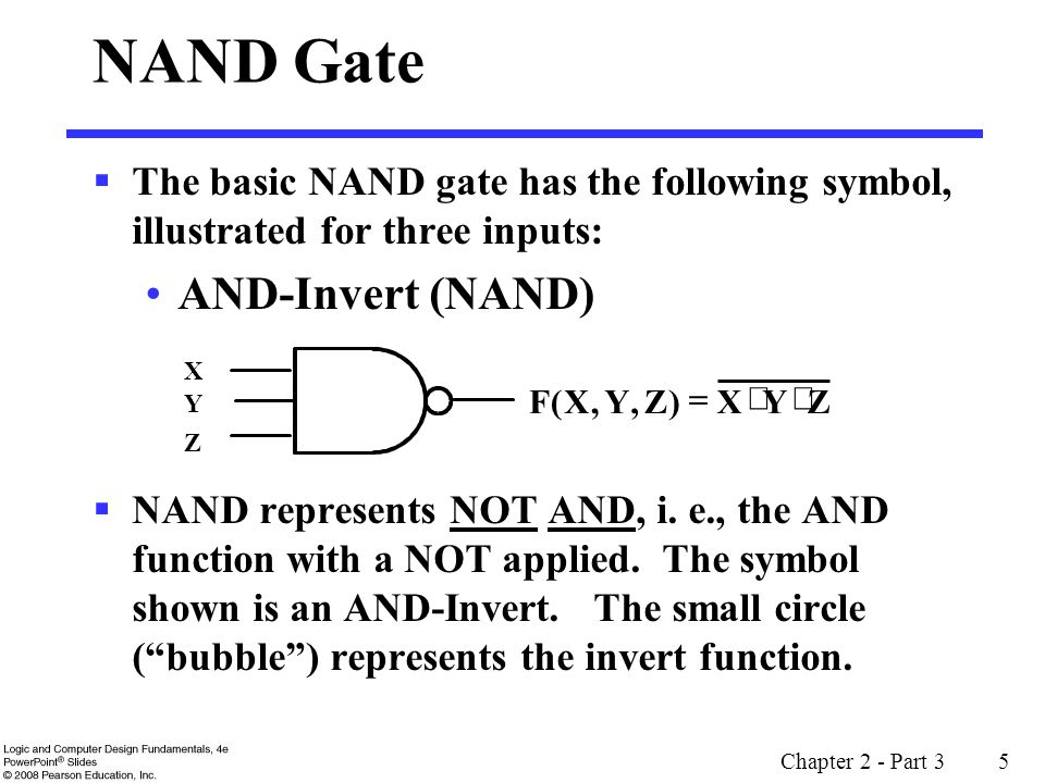 NAND Gate AND-Invert (NAND)