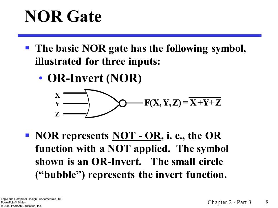 NOR Gate OR-Invert (NOR)