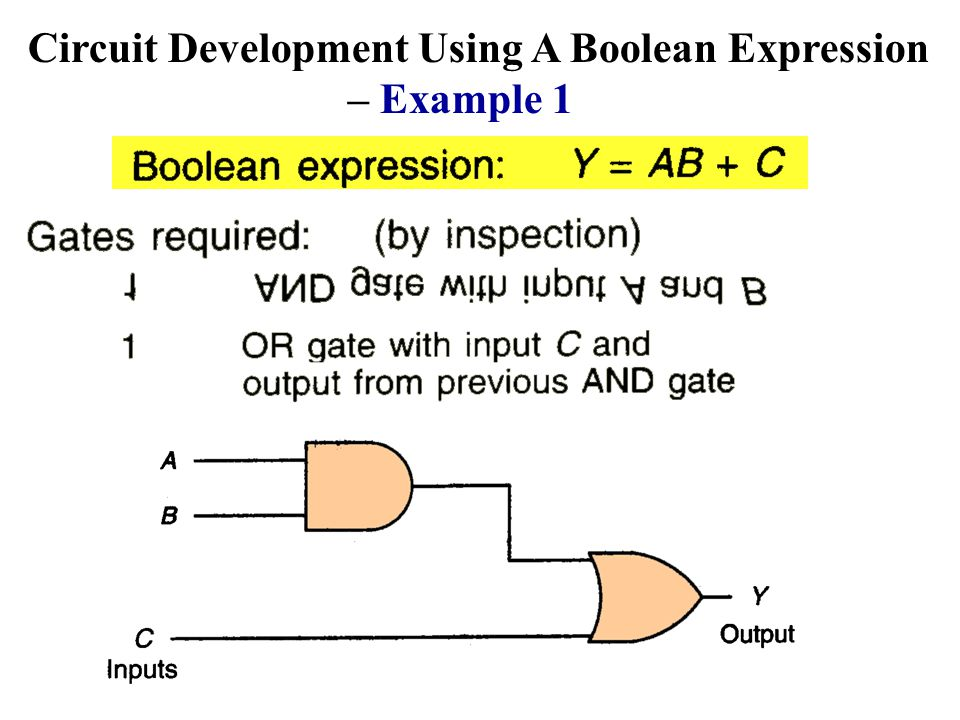 Circuit Development Using A Boolean Expression