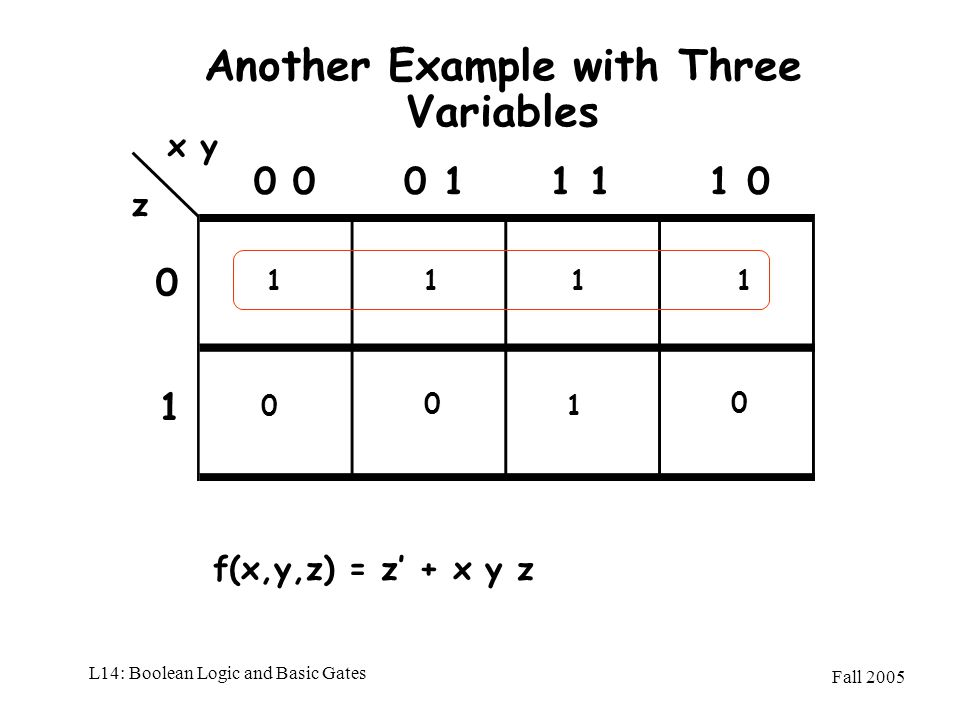 Another Example with Three Variables