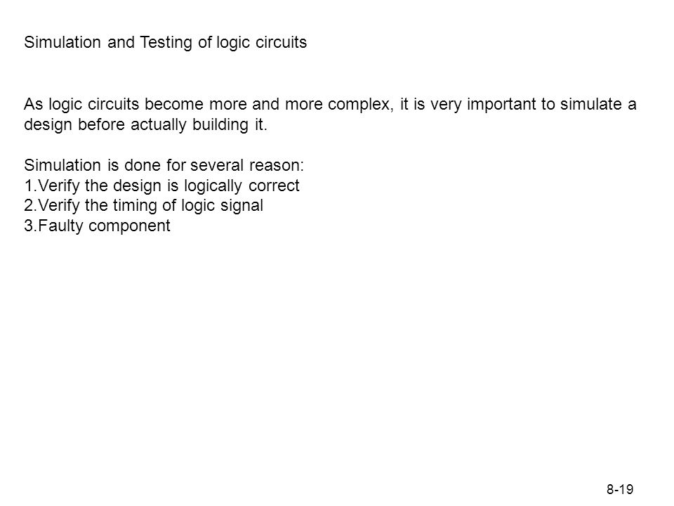 Figure 8.12 For a simulating logic circuit: