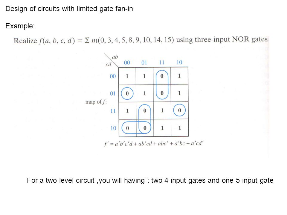 Convert to NOR-gate circuit