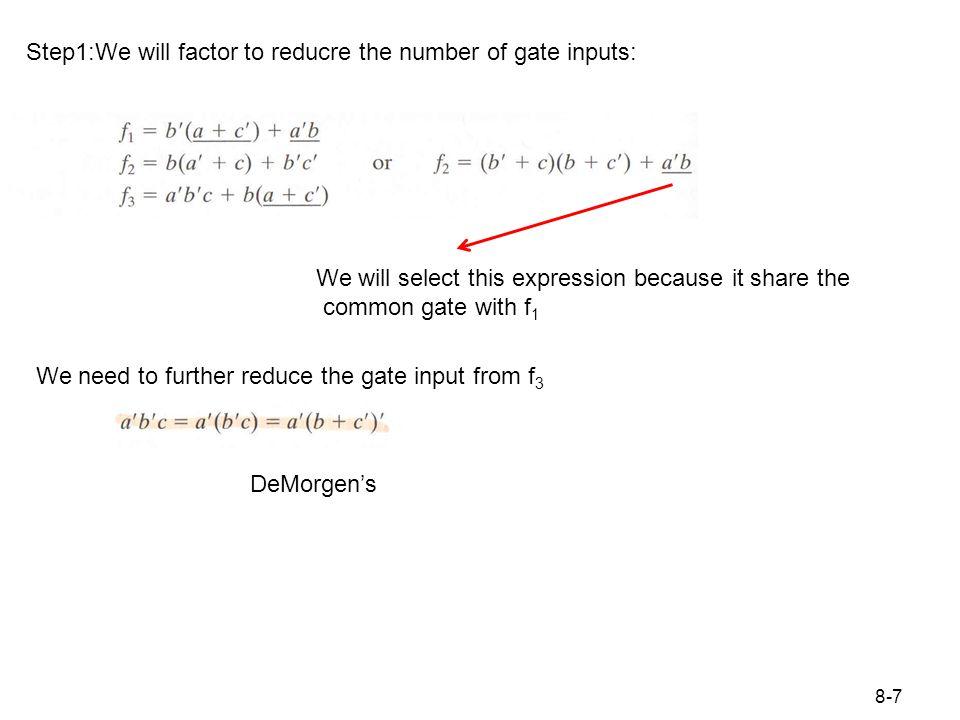 Figure 8.3 Realization of Figure 8.2