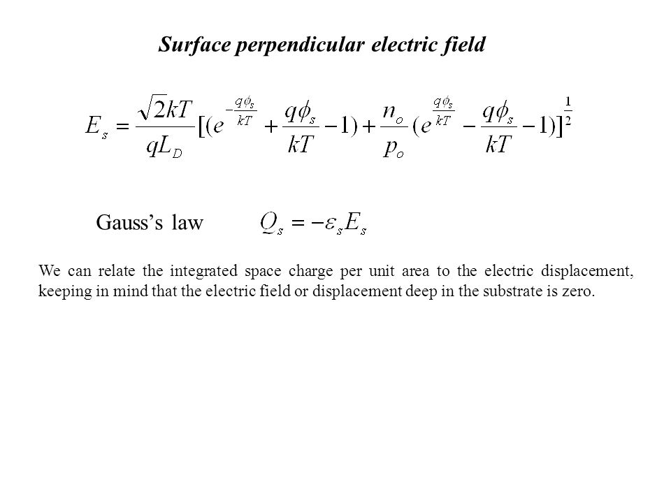 Surface perpendicular electric field