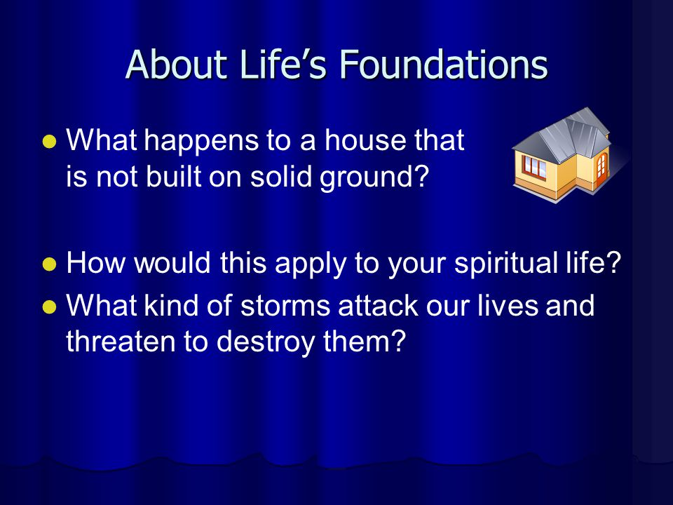 About Life's Foundations