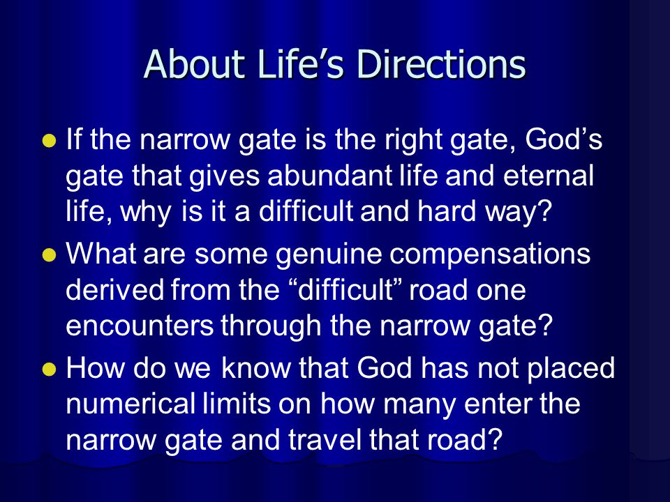 About Life's Directions