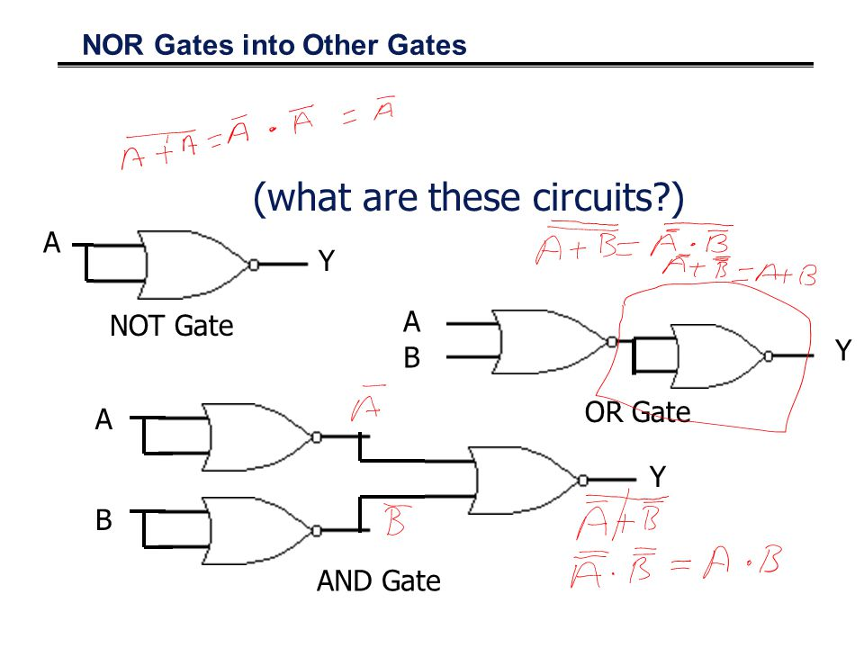 NOR Gates into Other Gates