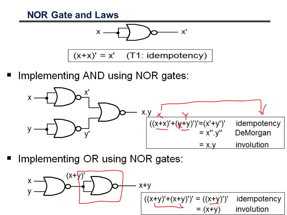 NOR Gate and Laws