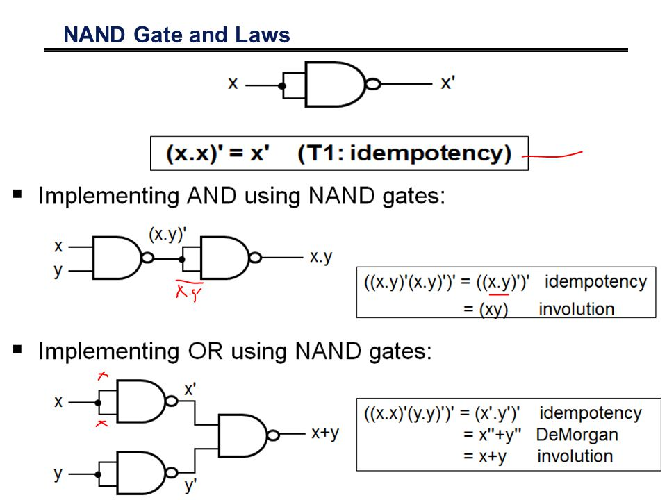 NAND Gate and Laws