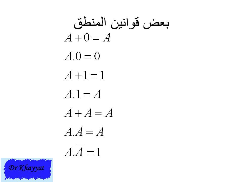 بعض قوانين المنطق Dr Khayyat