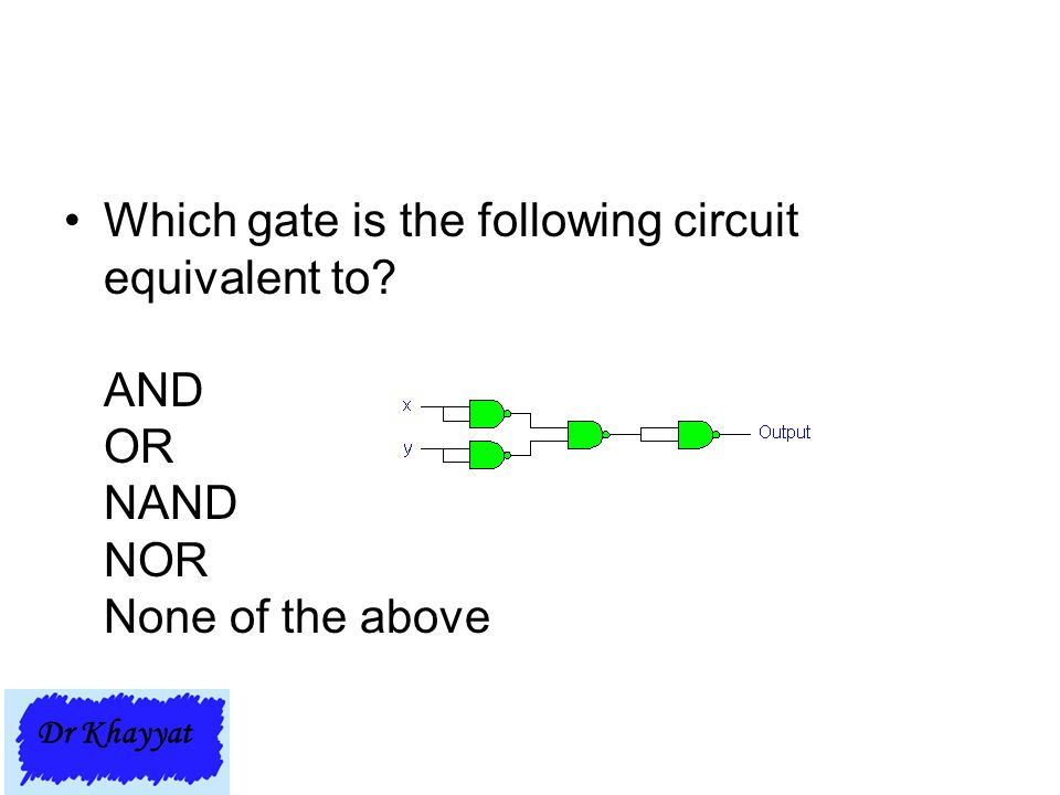 Which gate is the following circuit equivalent to