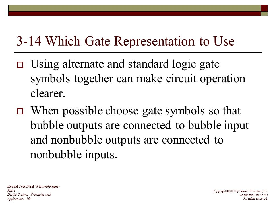 3-14 Which Gate Representation to Use