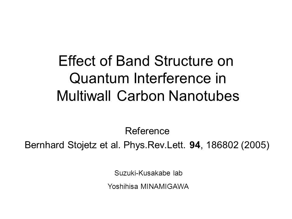 Reference Bernhard Stojetz et al. Phys.Rev.Lett. 94, 186802 (2005)