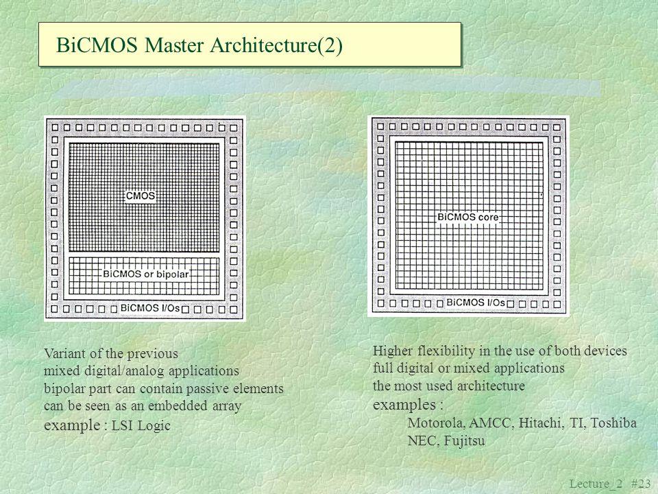 BiCMOS Master Architecture(2)