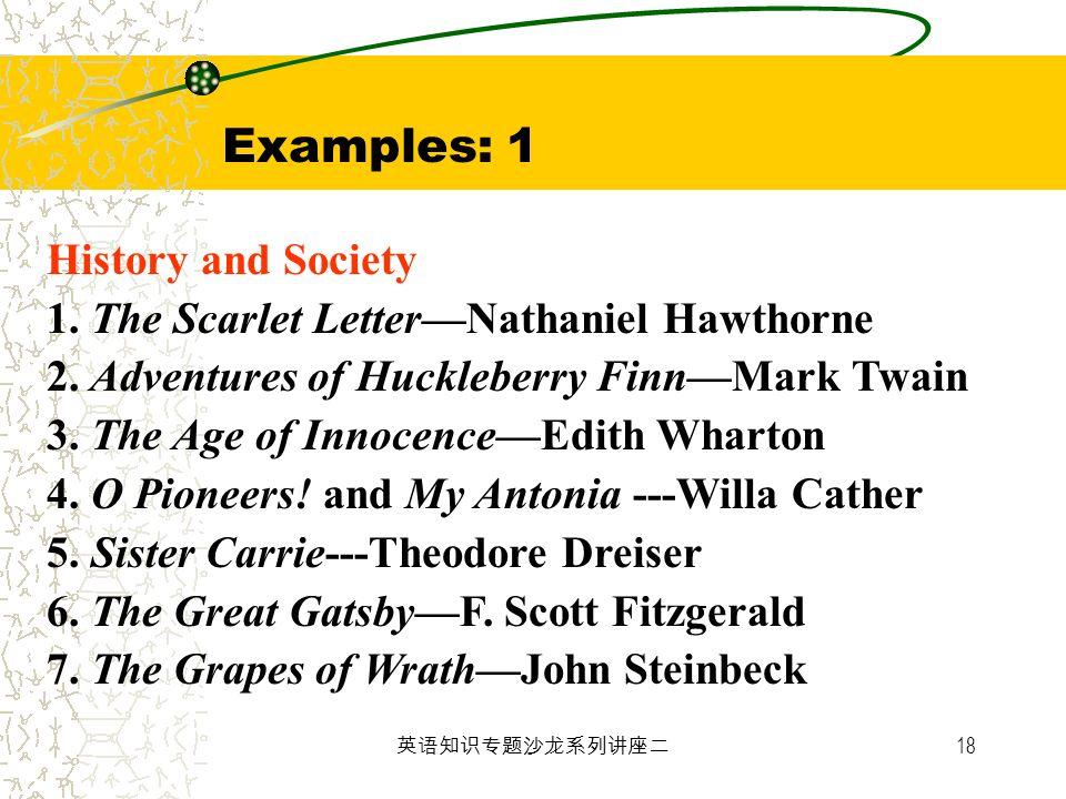 Examples: 1 History and Society