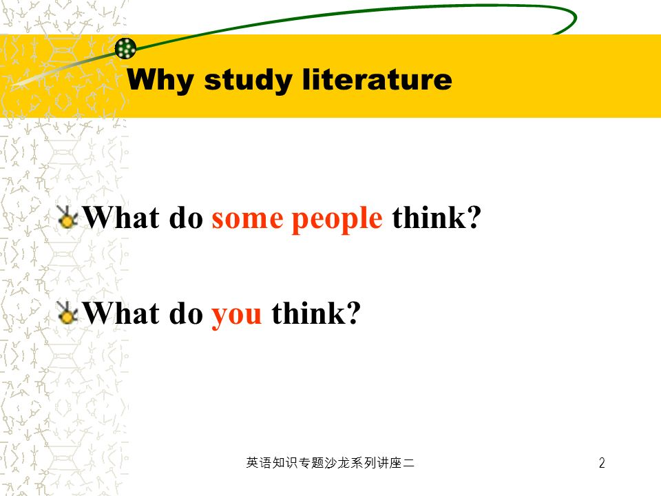 Why study literature What do some people think What do you think