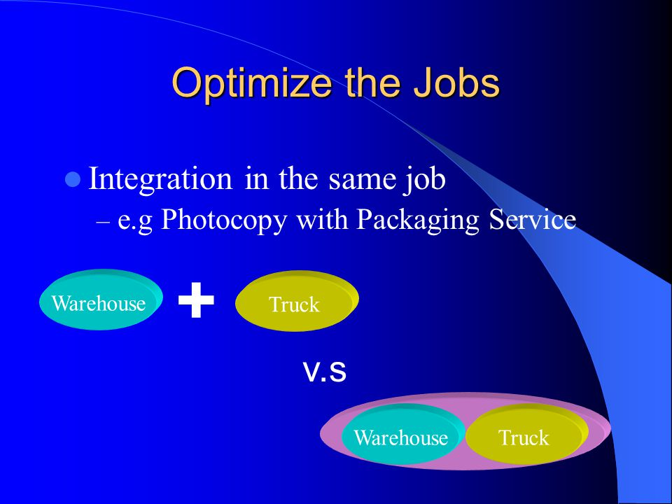 + Optimize the Jobs v.s Integration in the same job