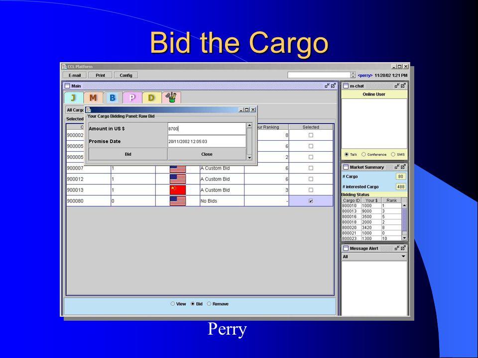 Bid the Cargo Perry