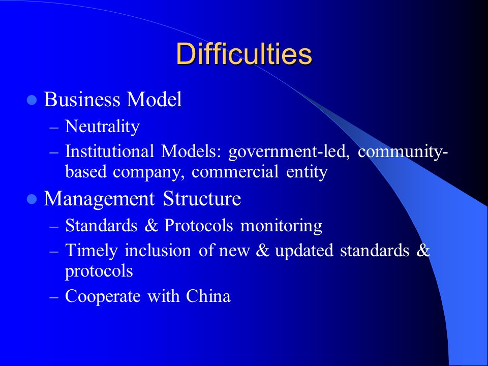 Difficulties Business Model Management Structure Neutrality