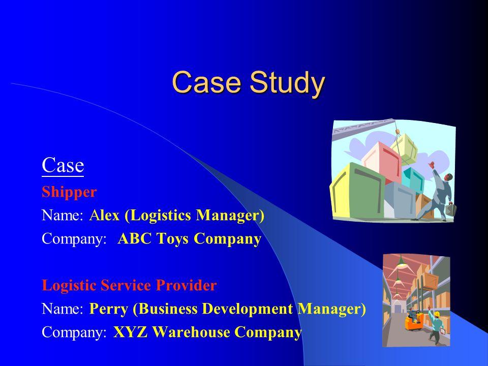 Case Study Case Shipper Name: Alex (Logistics Manager)