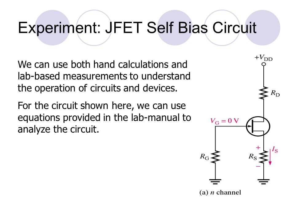 Experiment: JFET Self Bias Circuit