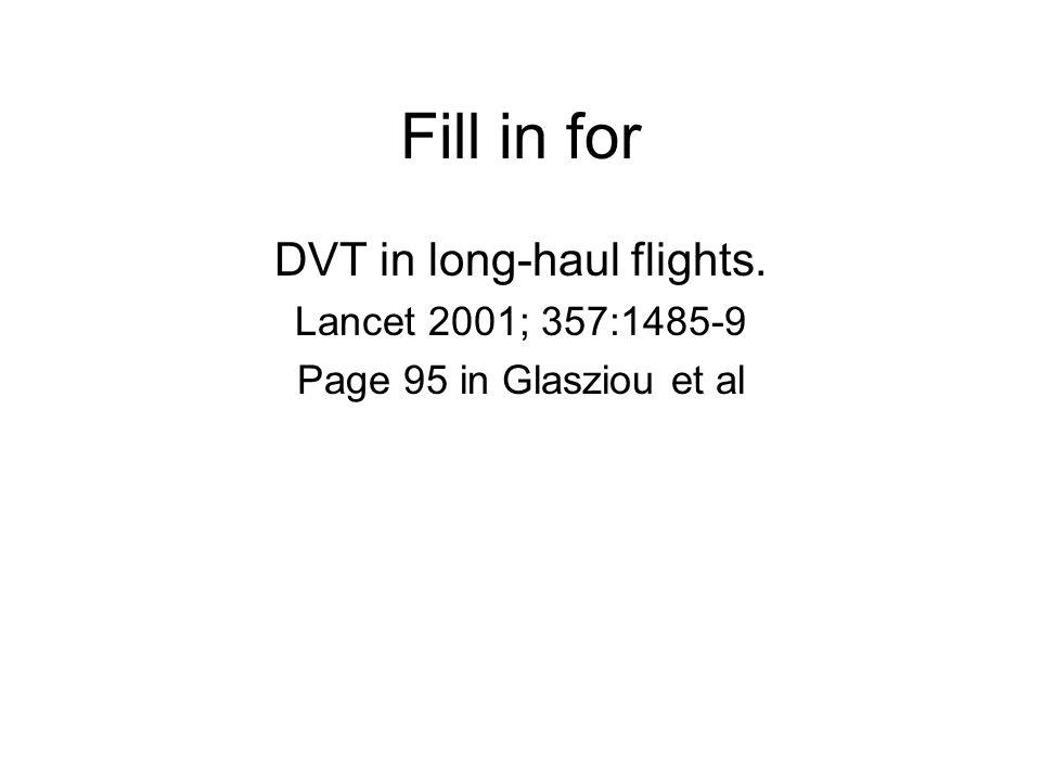 DVT in long-haul flights.