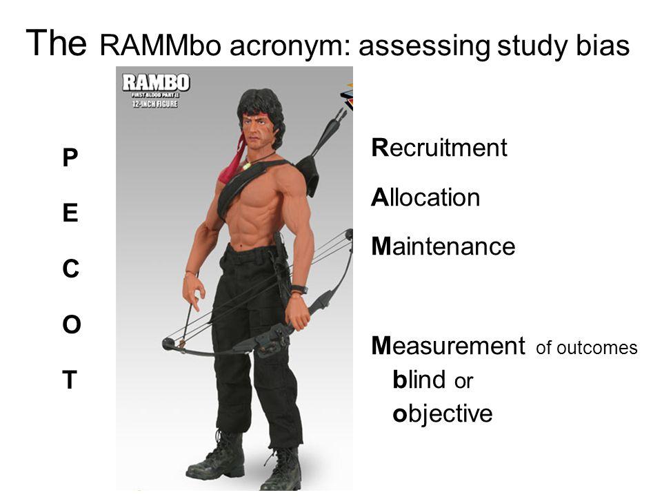 The RAMMbo acronym: assessing study bias