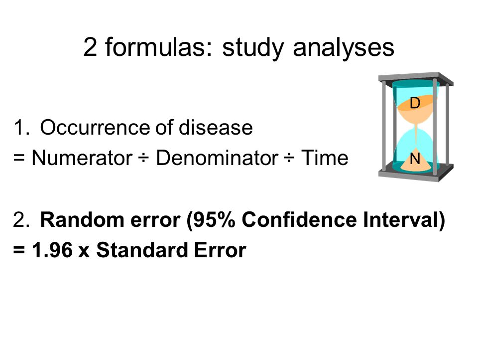 2 formulas: study analyses