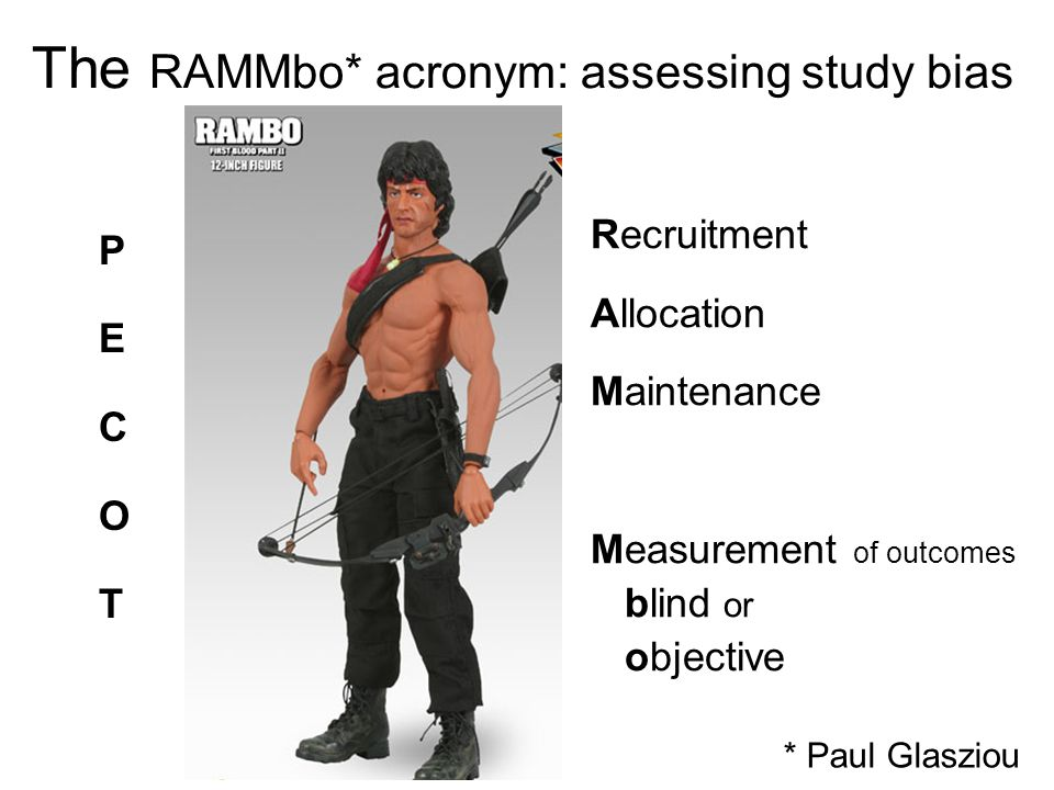 The RAMMbo* acronym: assessing study bias