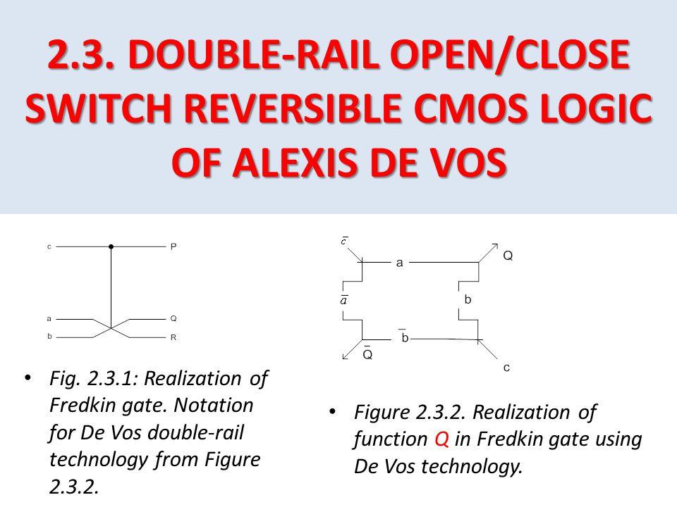 2.3. DOUBLE-RAIL OPEN/CLOSE SWITCH REVERSIBLE CMOS LOGIC OF ALEXIS DE VOS