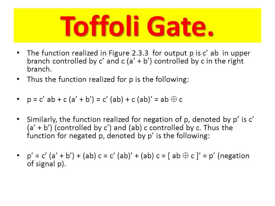 Toffoli Gate.