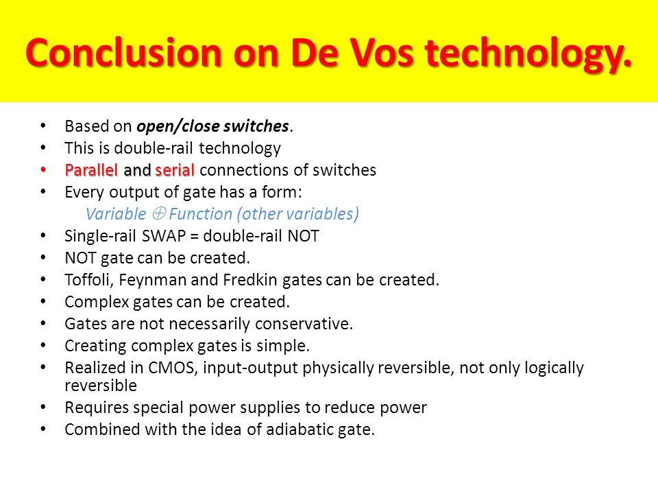 Conclusion on De Vos technology.