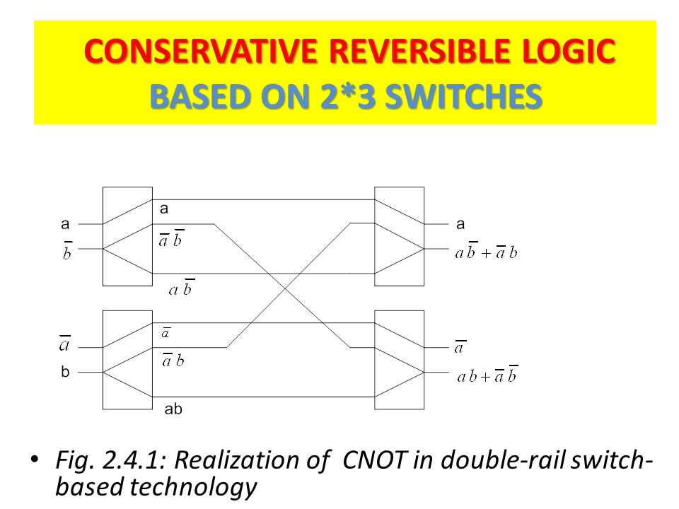 CONSERVATIVE REVERSIBLE LOGIC BASED ON 2*3 SWITCHES