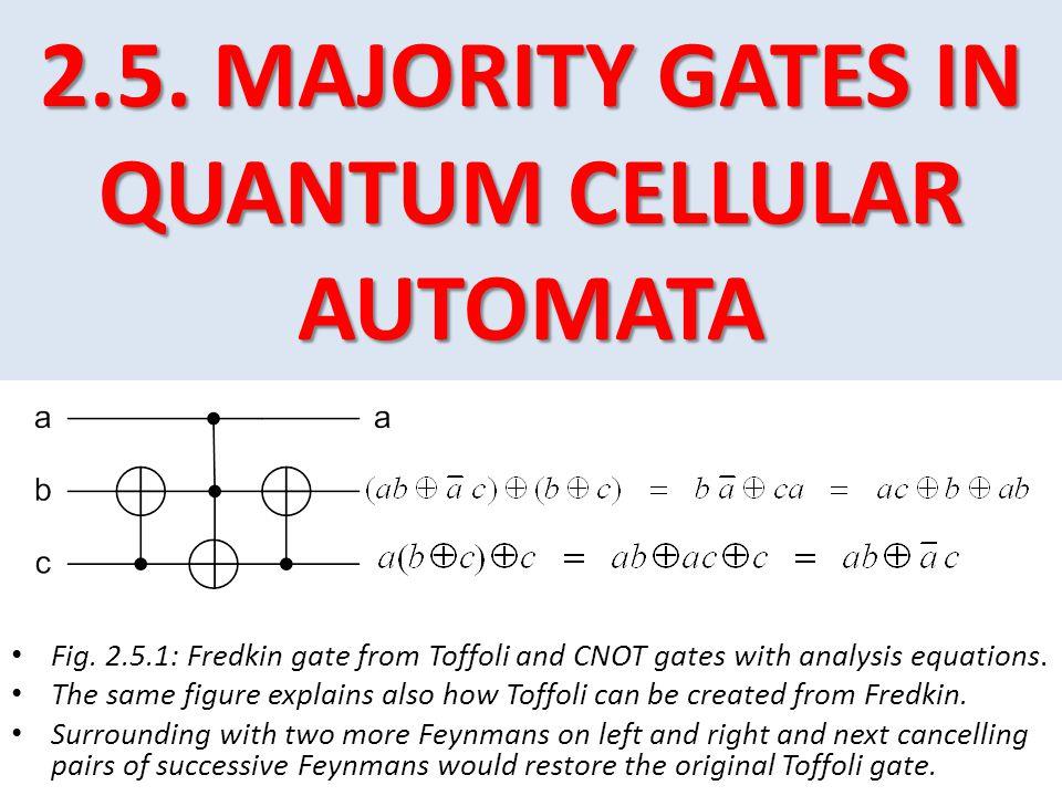 2.5. MAJORITY GATES IN QUANTUM CELLULAR AUTOMATA