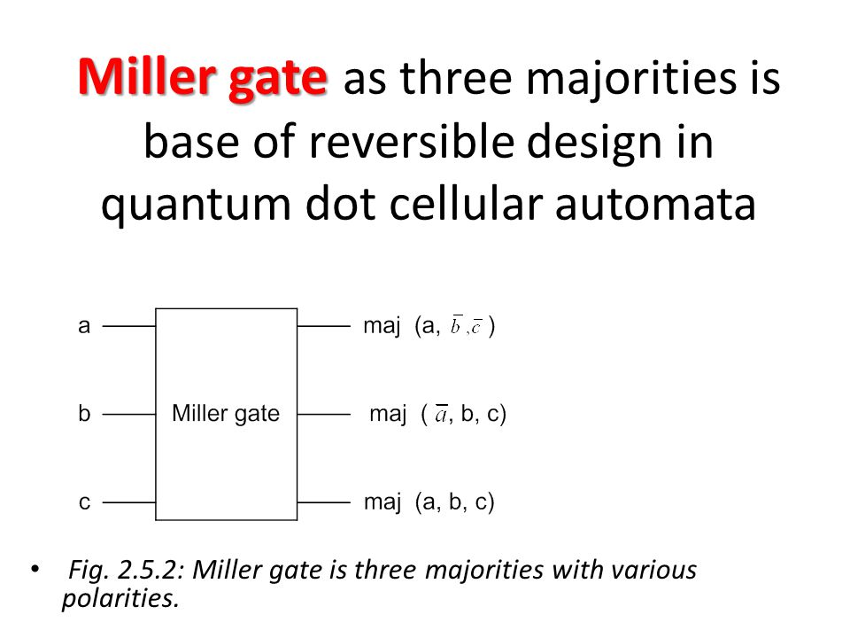 Miller gate as three majorities is base of reversible design in quantum dot cellular automata