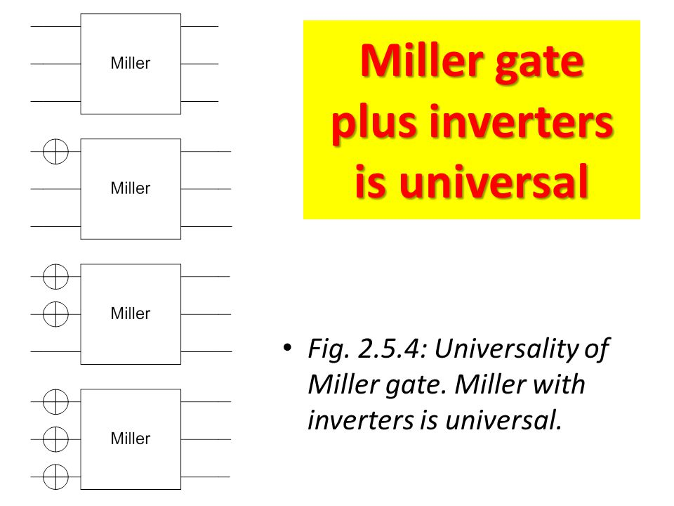 Miller gate plus inverters is universal