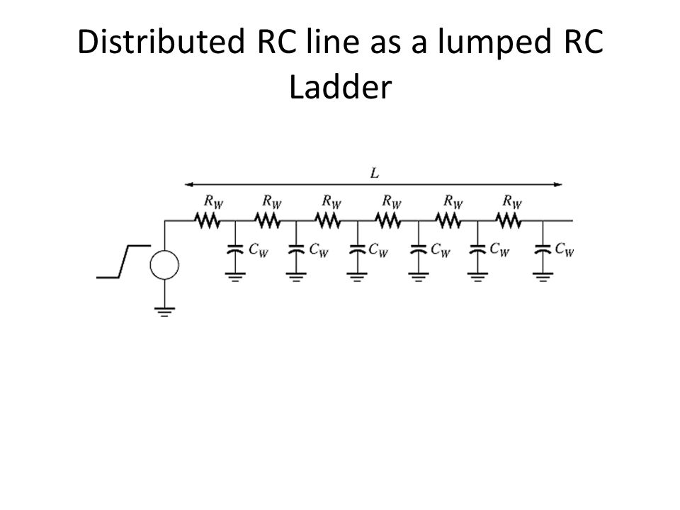 Distributed RC line as a lumped RC Ladder