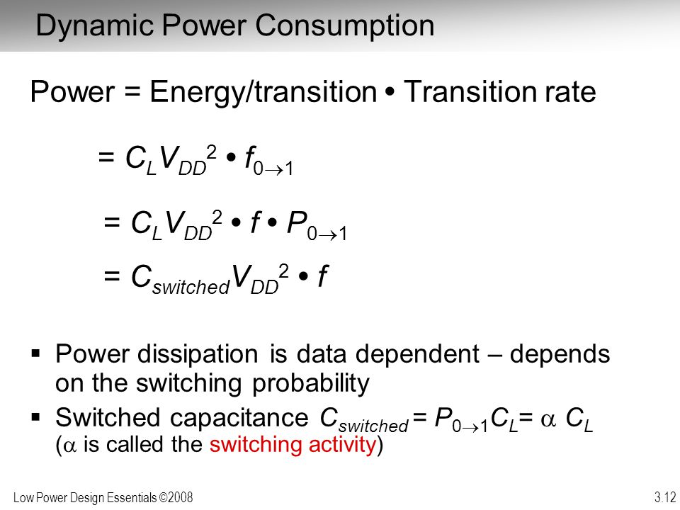 Dynamic Power Consumption