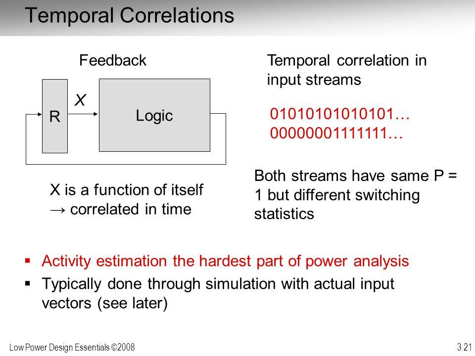 Temporal Correlations