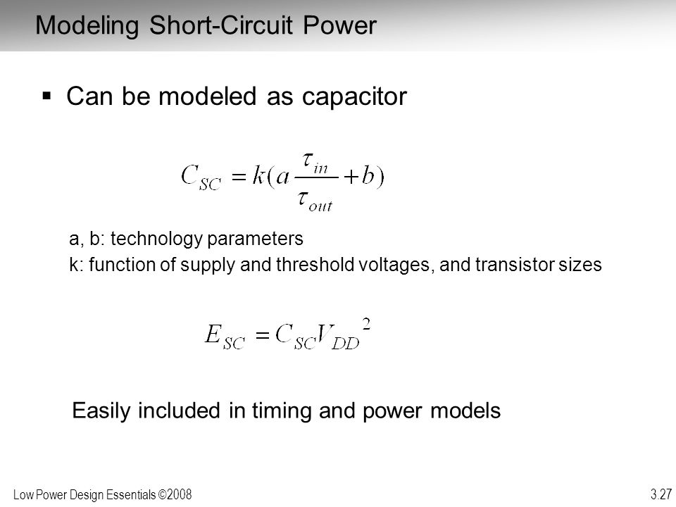 Modeling Short-Circuit Power