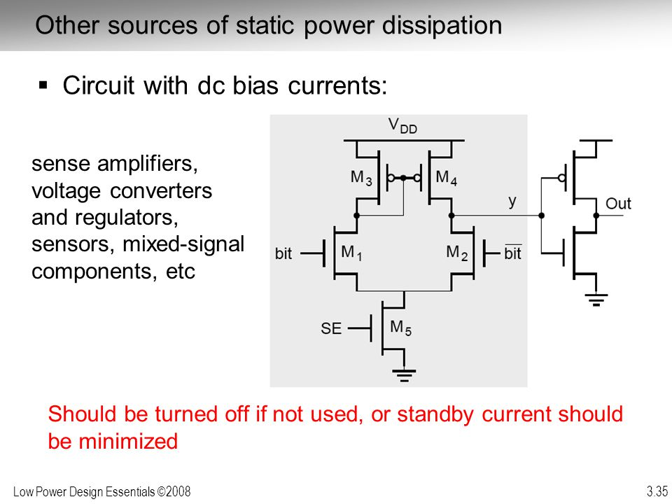 Other sources of static power dissipation