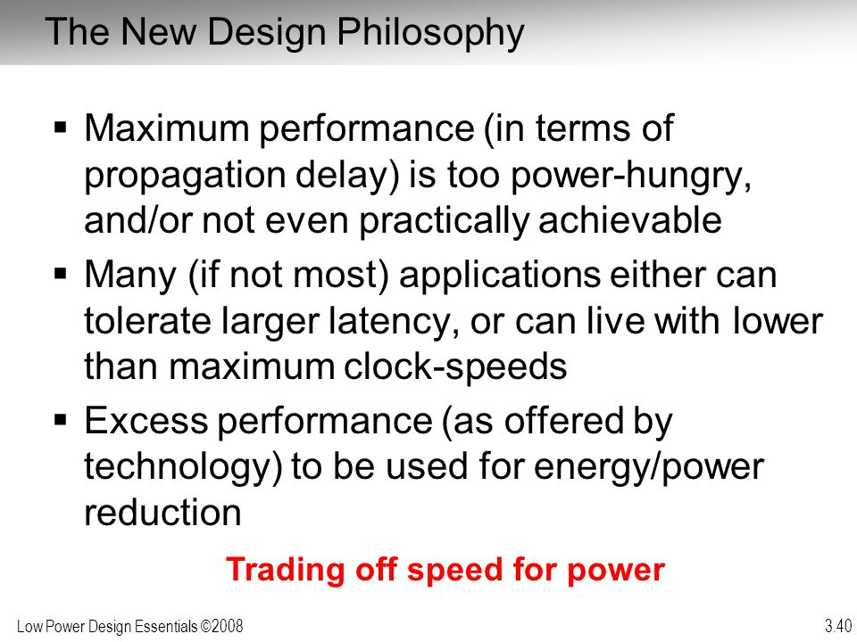 The New Design Philosophy