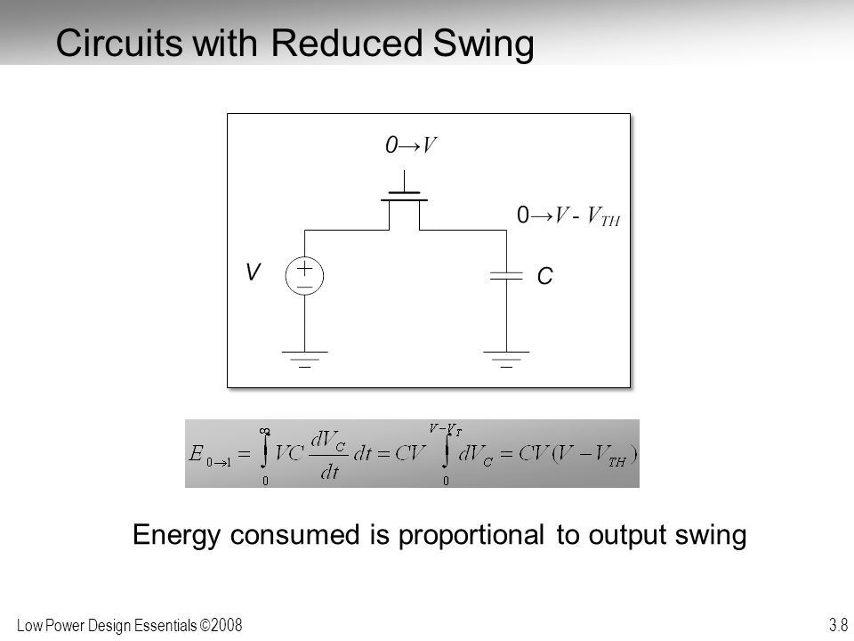 Circuits with Reduced Swing