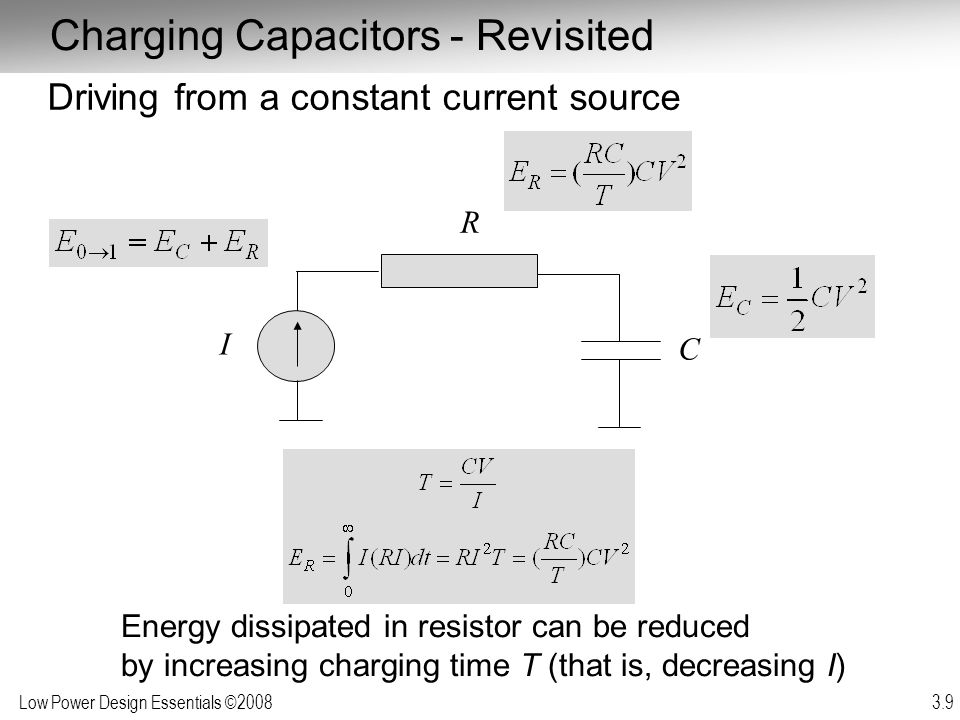 Charging Capacitors - Revisited