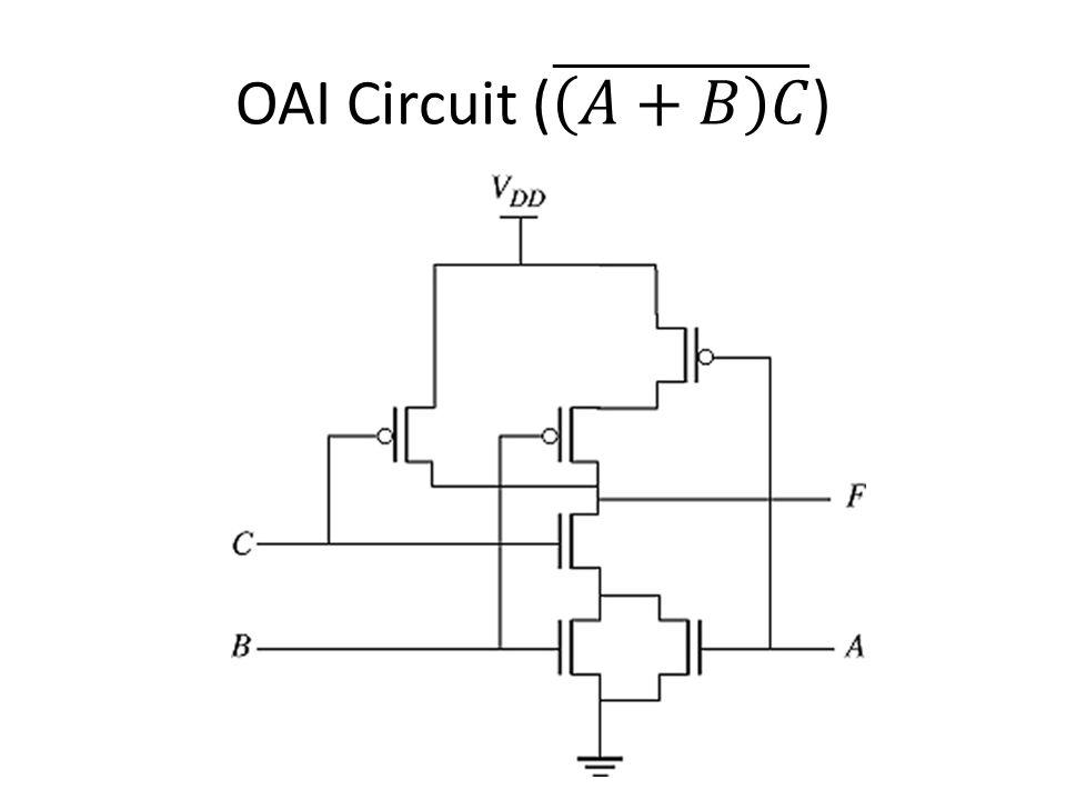 OAI Circuit ( 𝐴+𝐵 𝐶 )