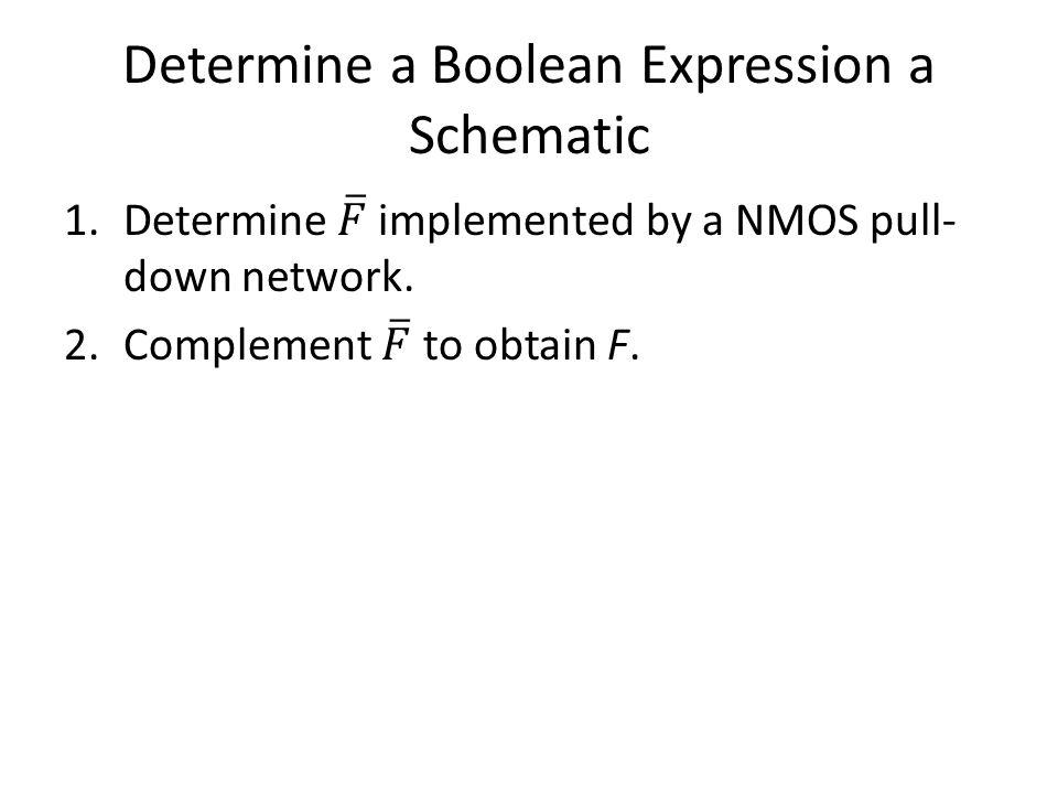 Determine a Boolean Expression a Schematic