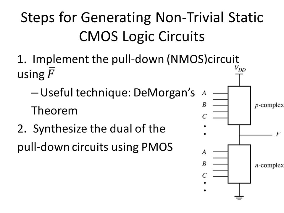 Steps for Generating Non-Trivial Static CMOS Logic Circuits