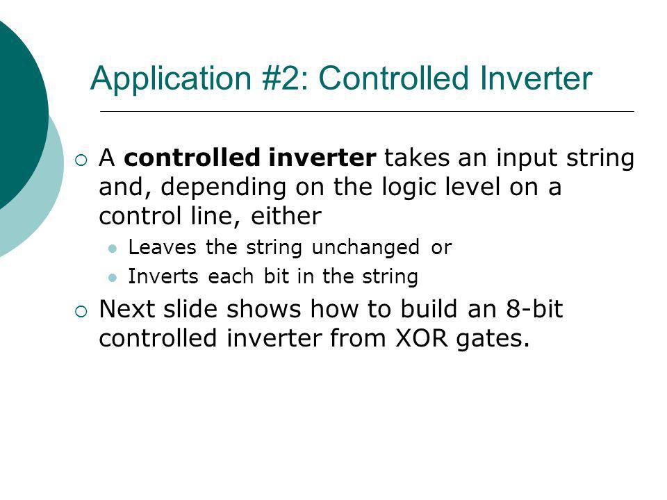 Application #2: Controlled Inverter