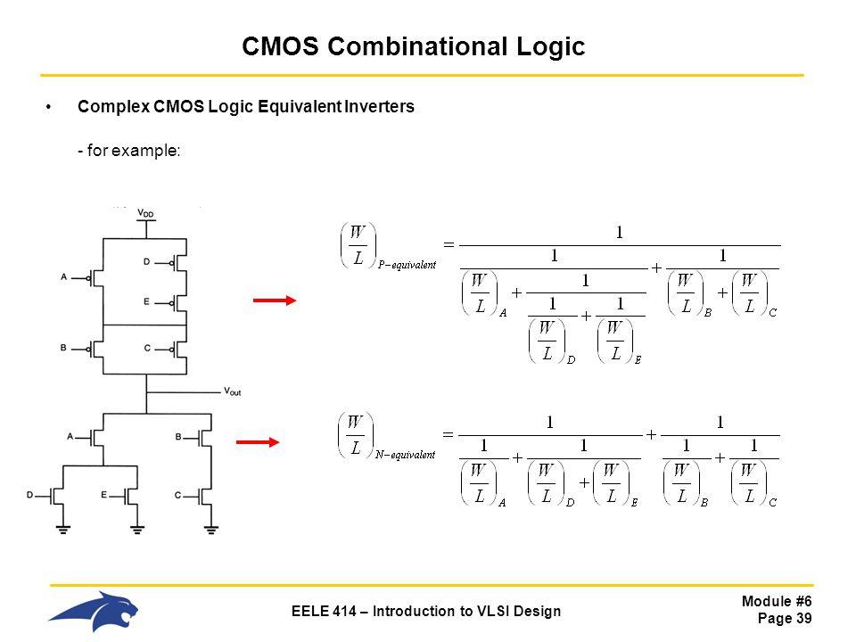 CMOS Combinational Logic