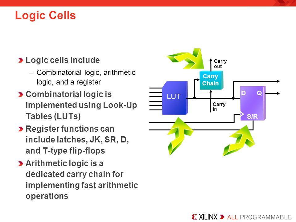 Logic Cells Logic cells include